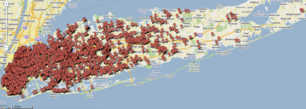 Long Island Delivery Area: Nassau & Suffolk