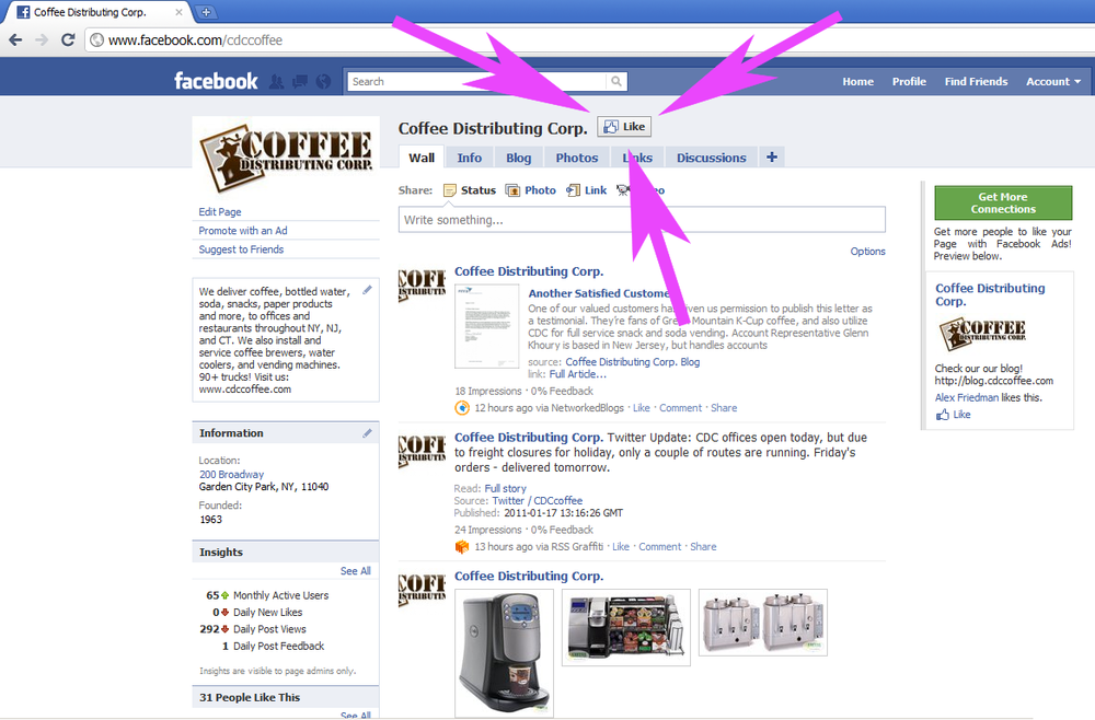 Coffee Distributing Corp. Is Now On Facebook