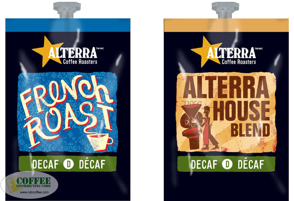 Alterra Decaf Coffees House Blend and French Roast